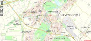 Online-Stadtplan Grevenbroich